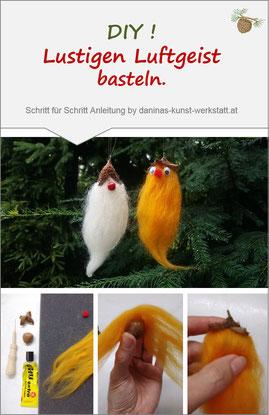 Bezaubernden Luftgeist aus Naturmaterialien selber basteln. Einfache Schritt für Schritt Anleitung by Daninas-Kunst-Werkstatt