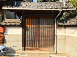 既存の木製門扉