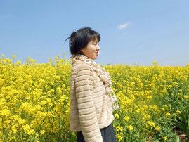 春のからし菜~あおい夢工房 炎と楽園のアート 立花雪 YukiTachibana