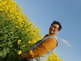 春のからし菜~あおい夢工房 炎と楽園のアート 小林夢狂 Mukyokobayashi