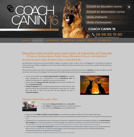 le site de coach canin 16 réalisé avec e-cime.fr