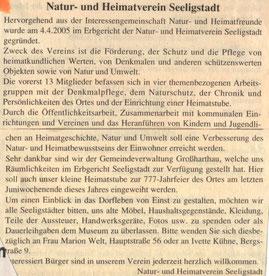 Bild: Seeligstadt Heimatstube 2005