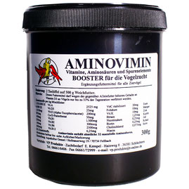 V. P. Produkte Produkt Aminovimin Booster für Vogelzucht