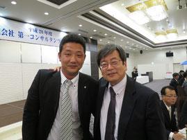 矢田部教授と弊社の西村