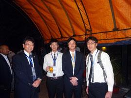左から福井高専吉田先生、谷脇、金沢大学山岸氏、矢田