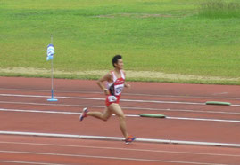 1500mに挑戦した吉田君の様子
