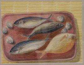 魚・魚・魚 6号油彩