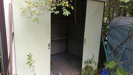 茨城県かすみがうら市で物置の解体と処分