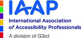 Logo International Association of Accessibility Professionals a division of G3ict