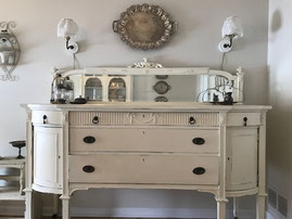 painted furniture creamy white server chester nj dainty dandelion