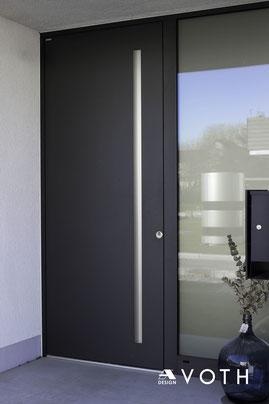 Aluminum Haustüre mit Griffmulde von Inotherm