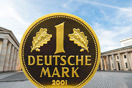 1 DM Goldmünze 2001