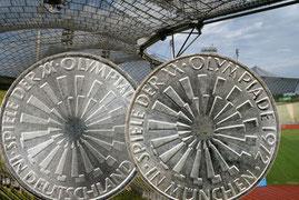 10 DM Münzen Olympiade München 1972