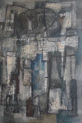 Rosario Moreno, huile sur toile,signée et datée, 81x54 cm