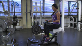 Renata Benigno, World-Champion, calf-workout at Stefan Sportcenter Munich