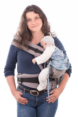 Huckepack Half Buckle baby carrier - hip seat - hip carrier for babies