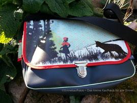 Schattenwelt - Geräumige Tasche aus Kunstleder in komfortabler A4 Größe