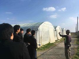 先端農家研修、深層水を用いた栽培施設の見学