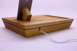 ノクターレ 携帯忘れな盆(iPhoneタイプ) 充電ケーブル パッシブスピーカー