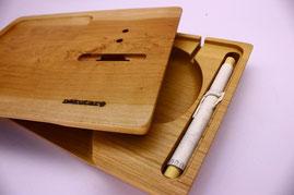 ノクターレ 携帯忘れな盆(iPhoneタイプ) 山中和紙 手漉き パッシブスピーカー