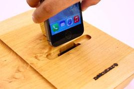 ノクターレ 携帯忘れな盆(iPhoneタイプ) パッシブスピーカー