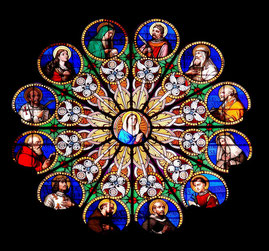 Kirchenfenster in Rom: Santa Maria sopra Minerva
