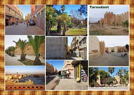 Eine Oasenstadt in Marokko auf der Höhe von Agadir