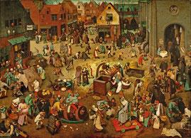 Pieter Bruegel der Ältere - Der Kampf zwischen Karneval und Fasten