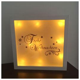 LED Bilderrahmen, LED mit verschiedenen Texten, LED Bilderrahmen - Frohe Weihnachten
