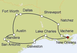 Mietwagenreise von Atlanta nach Dallas