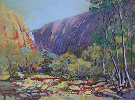Ormiston Gorge acrylic painting