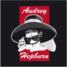 disegno-drawing-ritratto-portrait-digital-art-stilizzato-Audrey Hepburn-film-Colazione da Tiffany-bianco nero