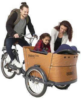 Babboe Curve-E Lasten e-Bike, Lastenfahrrad mit Elektromotor, e-Cargobike 2020