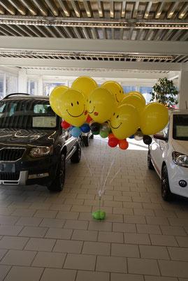 Mr. Balloni, Smily, Heliumballon, Deko, Raumdeko, Autohaus, Firma, Betrieb