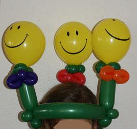 Mr.balloni ch,Ballonhut, Smily, Kinder