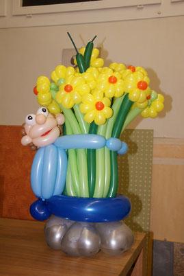 Ballonblumen, Blumen, Ballonkunst, Frühling, Geschenk, Geburtstag, Tischdeko, Mr. Balloni
