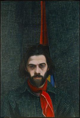 francois beaudry egg tempera painting portrait chercheur de trésors series