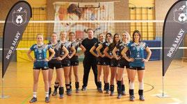 Damen-2 mit Trainer Stefan Hugenbruch
