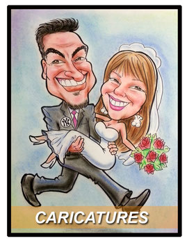 Caricatures, hector avila, wedding caricatures,art, latin artist, havila