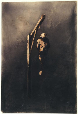 Victor Hugo 50,8 x 34,9 cm [1854] Plume et lavis d'encre brune sur crayon de graphite, encre noire, fusain sur papier vergé /Maisons de Victor Hugo, Paris / Guernesey