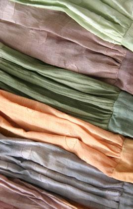 farbiger Batist für Baumwollketten handbemalt,Naturschmuck