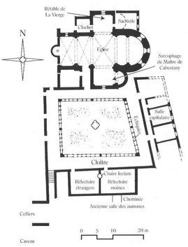 Plan der Abtei