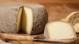 pecorino maremma new taste sheep sheep's cheese dairy caseificio tuscany tuscan spadi follonica block 1200g 1.2kg cut italian origin milk italy matured aged flavored flavor al cenerino cinder ash refined refine