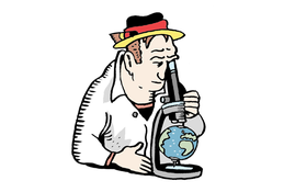 """Eine Kolumne für die Süddeutsche Zeitung, gezeichnet von Niels Schröder. Die Frage """"wie geht es eigentlich Deutschland?"""" wurde in einer Serie von Artikeln beleuchtet."""
