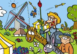 Van Bun Communicatie & Vormgeving - Internetgazet Lommel - Illustraties - Tekeningen - Grafisch ontwerp - Publiciteit - Reclame - Molenfeesten Kattenbos