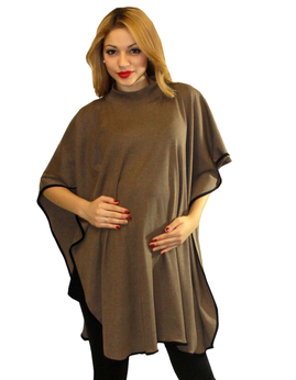 maternity poncho color mocha