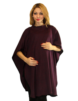 maternity poncho color grape