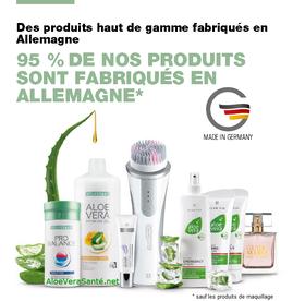 95 % de nos produits sont fabriqués en Allemagne - Produits haut de gamme Made in Germany avec LR Health and Beauty