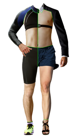Reibungslos Joggen, Highheels, Radfahren, Laufen, Fitnes, Brustgurt, Anzug oder Neopren