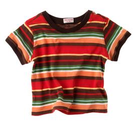 buntes T-shirt , Herzkind, faire Mode für Kinder